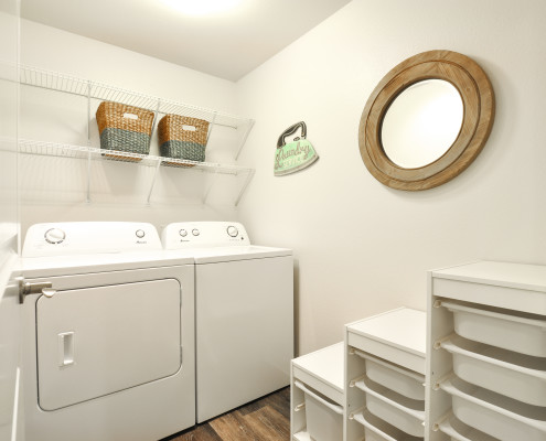 Laundry Room - Starboard Apartments, Juanita Beach, Kirkland, Washington 98034