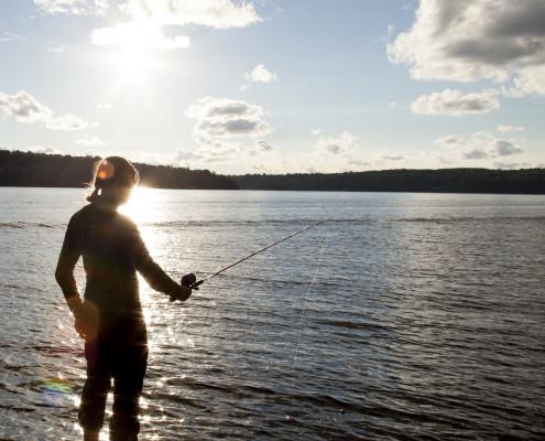Fishing in Juanita Bay - Starboard Apartments, Juanita Beach, Kirkland, Washington 98034