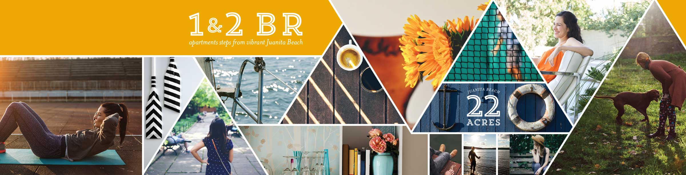Starboard Apartments: 1 & 2 Bedroom apartments steps from vibrant Juanita Beach, Kirkland, Washington 98034
